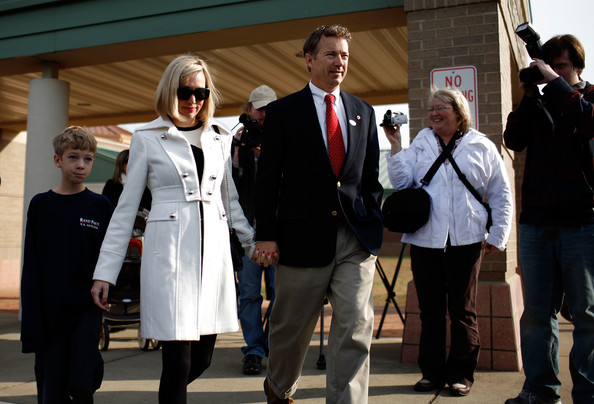 kelley paul in rand paul casts his vote on election day zimbio