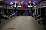 """(L-R) Sen. Rand Paul (R-KY), Center for the National Interest Vice Chairman Dov Zakheim and Sen. Chris Murphy discuss legislation to halt the sale of some weapons to Saudi Arabia at the center September 19, 2016 in Washington, DC. After the Department of Defense announced the sale of $1.5 billion of arms to Saudi Arabia, Senators Paul, Murphy, Al Franken (D-MN) and Mike Lee (R-UT) are attempting to block the sale by using a provision of the Arms Export Control Act of 1976 that """"provides for special procedures whereby a senator can force a vote on an arms sale by the president."""""""