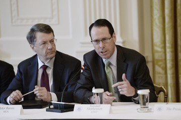 Randall Stephenson Trump Attends the American Leadership in Emerging Technology Event