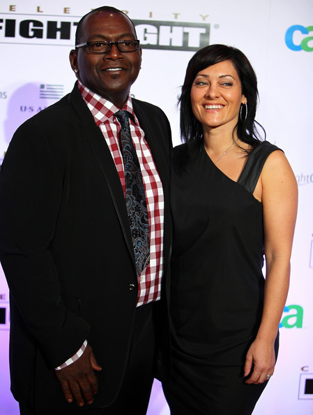 Erika Riker and Randy Jackson - Celebrity Fight Night XVI - Arrivals