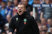 Neil Lennon coach of Celtic reacts during the Clydesdale Bank Premier League match between Rangers and Celtic at Ibrox Stadium on April 24, 2011 in Glasgow, Scotland.