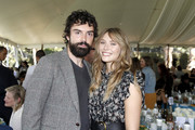 (L-R) Robbie Arnett and Elizabeth Olsen attend the Rape Foundation Annual Brunch 2019 at Greenacres, The Private Estate of Ron Burkle on October 06, 2019 in Beverly Hills, California.