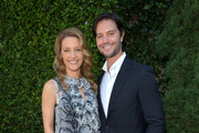 Actors KaDee Strickland and Jason Behr arrive at the Rape Treatment Center Brunch honoring Norman Lear hosted by Viola Davis at a Private Residence on October 14, 2012 in Beverly Hills, California.