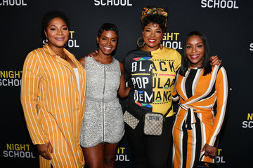 Rashan Ali 'Night School' Red Carpet Screening With Kevin Hart And Will Packer At Regal Atlantic Station
