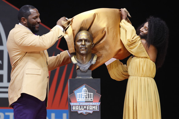 Ray Lewis and Diaymon Lewis Photos - 2 of 3. NFL Hall Of Fame Enshrinement  Ceremony 8e24238cc