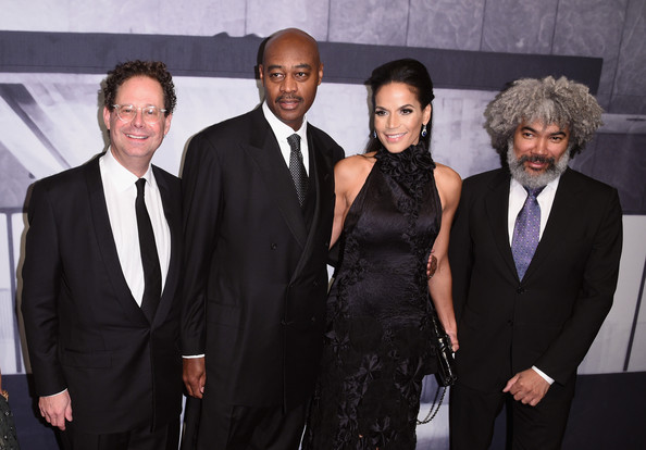 Whitney Gala  [suit,event,tuxedo,formal wear,premiere,white-collar worker,whitney gala,fred wilson,director,crystal mccary,adam d. weinberg,raymond mcguire,l-r,whitney museum,the breuer building,gala co-chairs]
