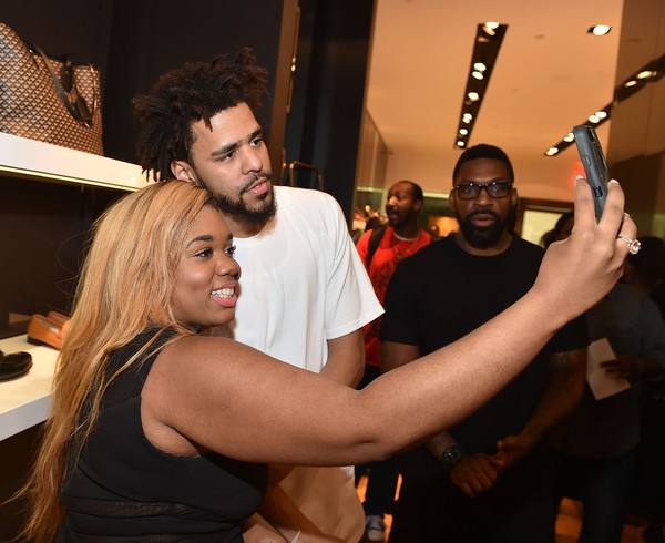 J. Cole Appears for Bally Cocktail in Atlanta