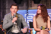 Tye Sheridan and Olivia Cooke speak onstage during Ready Player One LIVE at SXSW, Powered by Twitch and IMDb on March 11, 2018 in Austin, Texas.