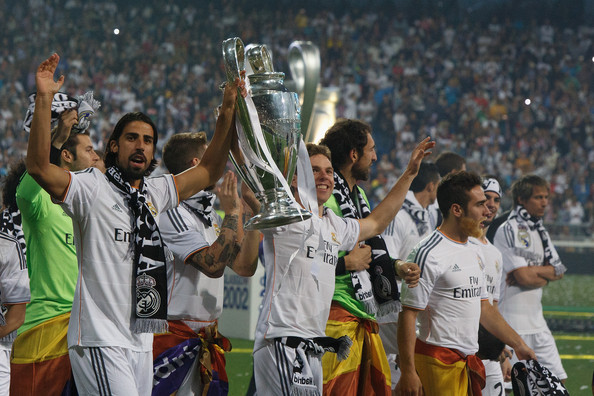 Real Madrid or Atletico de Madrid victory parade after winning the UEFA Champions League Final