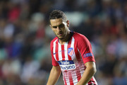 Koke of Atletico runs with the ball during the UEFA Super Cup between Real Madrid and Atletico Madrid at Lillekula Stadium on August 15, 2018 in Tallinn, Estonia.