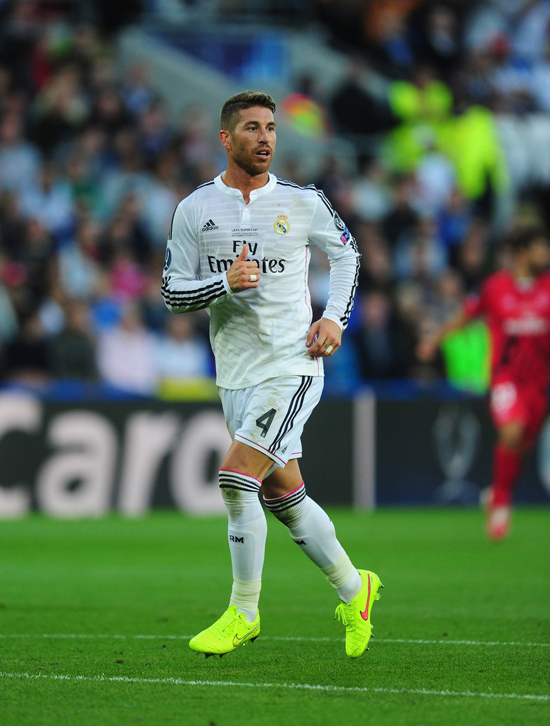 Sergio ramos in real madrid v sevilla fc zimbio - Sergio madrid ...
