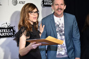 """Lisa Loeb and Ethan Hawke attend """"Reality Bites"""" 25th Anniversary - 2019 Tribeca Film Festival at BMCC Tribeca PAC on May 04, 2019 in New York City."""