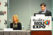 TV personality Ali Brown and Mike Duffy speak at Reality Rocks Expo - Day 1 at the Los Angeles Convention Center on April 9, 2011 in Los Angeles, California.