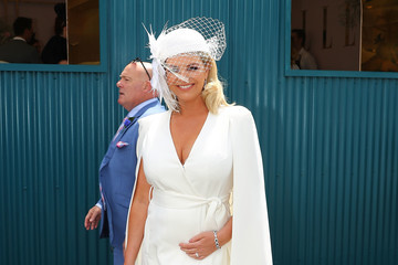 Rebecca Maddern Celebrities Attend Derby Day