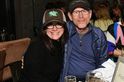 """President of National Geographic Global Television Networks Courteney Monroe and Ron Howard attend the """"Rebuilding Paradise"""" Sundance Premiere Reception at Tupelo on January 24, 2020 in Park City, Utah."""