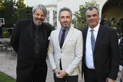 (L-R) Ian Hunter, British Consul General Michael Howells and Chris Corbould attend the  Reception For UK Oscars Nominees at British Consul General's Residence on February 22, 2019 in Los Angeles, California.