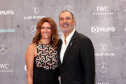 Laureus Academy Member Cafu and guest attend the 2020 Laureus World Sports Awards at Verti Music Hall on February 17, 2020 in Berlin, Germany.