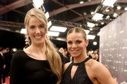 Laureus Academy Member Missy Franklin and Laureus World Sportsperson of the Year with a Disabilty nominee Oksana Masters attend the 2020 Laureus World Sports Awards at Verti Music Hall on February 17, 2020 in Berlin, Germany.