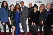 (L-R) Constantine Maroulis, Teal Wicks, Deborah Cox, Jeff Calhoun, Frank Wildhorn, Yvonne Roman, Carly Robyn Green and Leslie Bricusse arrive at the opening night of 'Jekyll & Hyde' held at the Pantages Theatre on February 12, 2013 in Hollywood, California.