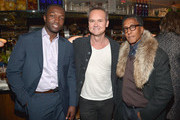 """(L-R) Actor Jamie Hector, Head of Amazon Studios Roy Price and actor Andre Royo attend the Red Carpet Premiere Screening For Season Two Of Multi-Golden Globe And Emmy Award-Winning Amazon Original Series """"Transparent"""" on November 9, 2015 in Los Angeles, California."""