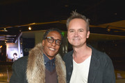 """Actor Andre Royo (L) and Head of Amazon Video Roy Price attend the Red Carpet Premiere Screening For Season Two Of Multi-Golden Globe And Emmy Award-Winning Amazon Original Series """"Transparent"""" on November 9, 2015 in Los Angeles, California."""