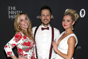"Autumn Federici, Jake Helgren and Katherine Bailess attend the Red Carpet screening of ""Vows of Deceit"" by The Ninth House and MarVista Entertainment on March 18, 2018 in Sherman Oaks, California."
