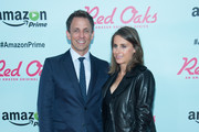 "Televison Personality Seth Meyers (L) and Alexi Ashe attends the ""Red Oaks"" Series Premiere at the Ziegfeld Theater on September 29, 2015 in New York City."