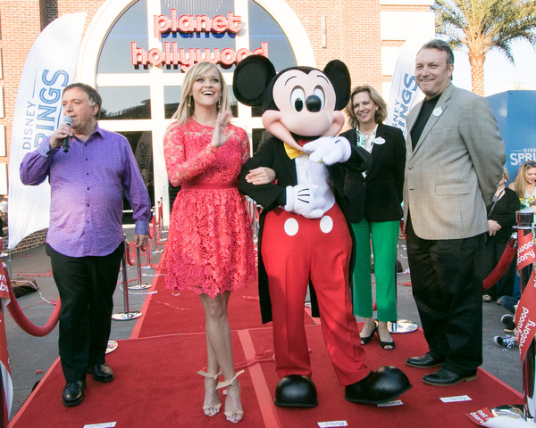 Reese Witherspoon And Mickey Mouse Officially Open Planet Hollywood Disney Springs
