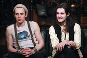"""(L-R) Reeve Carney and Zane Carney of the rock band Carney visit """"Fuse's Top 20 Countdown"""" at fuse Studios on March 17, 2011 in New York City.  This episode airs March 22 at 5pm ET."""