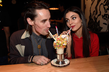 Reeve Carney Grand Opening Of Black Tap Craft Burgers & Beer At The Venetian Las Vegas
