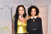 Kehlani (L) and Gugu Mbatha-Raw (R) attend Refinery29's 29Rooms San Francisco: Turn It Into Art Opening Party 2018 at Palace of Fine Arts on June 20, 2018 in San Francisco, California.