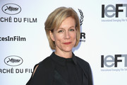 """Juliet Stevenson attends the """"When World's Collide,"""" Voices For Refugees Gala at Villa Saint George on May 17, 2016 in Cannes, France.  (Photo by Luca Teuchmann/Getty Images for International Emerging Film Talent Association"""