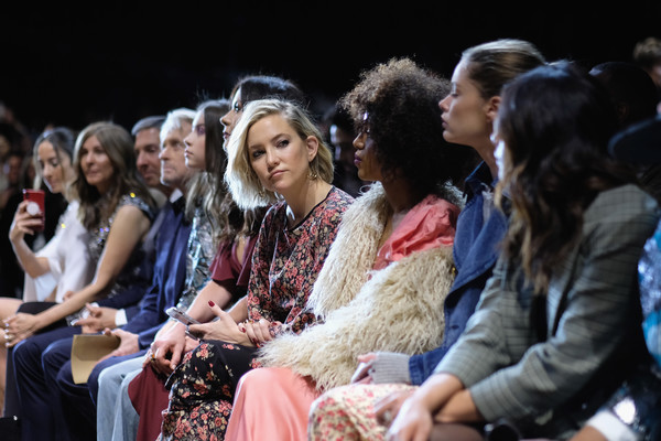 Michael Kors Collection Fall 2019 Runway Show - Front Row [michael kors collection fall 2019 runway show,people,audience,event,fashion,performance,fashion design,crowd,fur,performing arts,heater,kate hudson,front row,new york city,cipriani wall street]