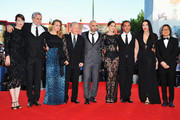 "(L-R) Jury members Ursula Meier, Ari Folman, Samantha Morton.Jury President Michael Mann, Jury members Pablo Trapero, Laetitia Casta, Matteo Garrone, Marina Abramovic and Peter Ho-Sun Chan attend ""The Reluctant Fundamentalist"" Premiere And Opening Ceremony during the 69th Venice International Film Festival at Palazzo del Cinema on August 29, 2012 in Venice, Italy."