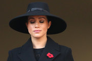 Meghan, Duchess of Sussex . attends the annual Remembrance Sunday memorial at The Cenotaph on November 10, 2019 in London, England. The armistice ending the First World War between the Allies and Germany was signed at Compiègne, France on eleventh hour of the eleventh day of the eleventh month - 11am on the 11th November 1918.