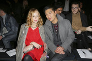 Bloggers Natasha Slater and Bryanboy attend the runway during the Renato Balestra fashion show at Santo Spirito in Sassia as part of AltaRoma Fashion Week Spring/Summer 2014 on January 26, 2014 in Rome, Italy.