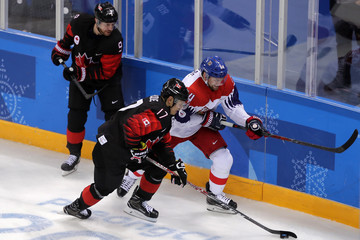 Rene Bourque Ice Hockey - Winter Olympics Day 8