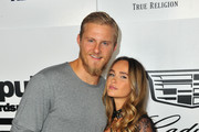 Alexander Ludwig (L) and Kristy Dawn Dinsmore attend the VMA after party hosted by Republic Records and Cadillac at TAO restaurant at the Dream Hotel on August 27, 2017 in Los Angeles, California.