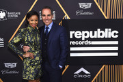 Angelina Davis (L) and Republic Records Chairman, CEO, and Co-Founder Monte Lipman attend Republic Records Celebrates the GRAMMY Awards in Partnership with Cadillac, Ciroc and Barclays Center at Cadillac House on January 26, 2018 in New York City.