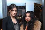 Hailee Steinfeld and  Kiana Lede Brown attend Republic Records Celebrates the GRAMMY Awards in Partnership with Cadillac, Ciroc and Barclays Center at Cadillac House on January 26, 2018 in New York City.