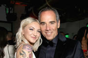 Julia Michaels (L) and CEO of Republic Records Monte Lipman during Republic Records Grammy after party at Spring Place Beverly Hills on February 10, 2019 in Beverly Hills, California.