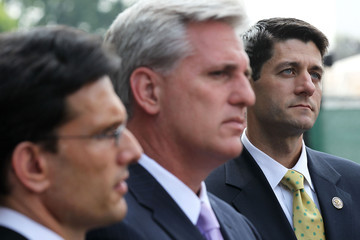 Eric Cantor Paul Ryan Republican Legislators Speak After Meeting With Obama At The White House