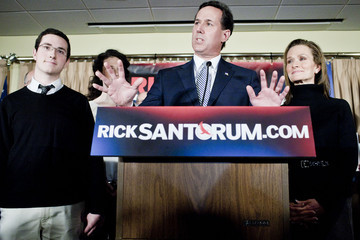 Daniel Santorum Republican Presidential Hopeful Rick Santorum Holds Primary Night Gathering