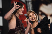 Milla Jovovich  and Rola attend the world premiere of 'Resident Evil: The Final Chapter' at the Roppongi Hills on December 13, 2016 in Tokyo, Japan.