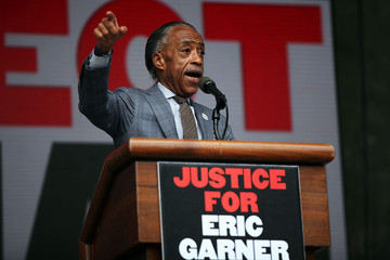 Reverend Al Sharpton Relatives Of Police Killing Victims Join Rally Calling For Justice For Eric Garner