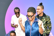 "Christian Combs, Sean ""Diddy"" Combs, Justin Combs, and Quincy attend day 3 of REVOLT Summit x AT&T Summit on September 14, 2019 in Atlanta, Georgia."