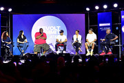 Tamika Mallory, Katrina Pierson, Killer Mike, T.I., Candace Owens, Steven Pargett, and Jeff Johnson speak onstage during day 3 of REVOLT Summit x AT&T Summit on September 14, 2019 in Atlanta, Georgia.