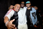 "Artists Timbaland, Sean ""Diddy"" Combs and Swizz Beatz attend day 1 of REVOLT Summit and AT&T Summit on September 12, 2019 in Atlanta, Georgia."
