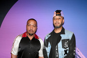 Artists Timbaland and Swizz Beatz attend day 1 of REVOLT Summit and AT&T Summit on September 12, 2019 in Atlanta, Georgia.