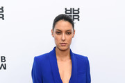 Rebecca Mir attends the Riani show during the Berlin Fashion Week Spring/Summer 2019 at ewerk on July 4, 2018 in Berlin, Germany.
